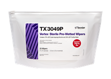 Picture of Sterile Vertex® TX3049P Pre-Wetted Cleanroom Wipers