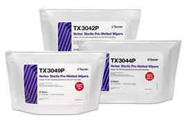 Vertex® Pre-Wetted Cleanroom Wipers, Sterile